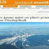 Alerte jaune pour le volcan Öræfajökull en Islande : Une nouvelle caldeira, d'un diamètre d'un kilomètre s'estformée,Selon le Iceland Met Office, cette caldeira montre une activité accrue à Öræfajökull, situé à Vatnajökull, le plus grand glacier d'Islande.Une grande puanteur sulfurique a émané de la rivière Kvíá la semaine dernière.Une activité sismique accrue s'est produite dans la région au cours des derniers mois, activité qui s'est atténuée ces derniers jours. Le volcan n'a pas éclaté depuis 1727.