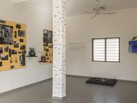 """Staging of the installation """"I HAVE A DREAM"""" at the exhibition [D] Humanizations at the space The Cotonou Center in Benin"""