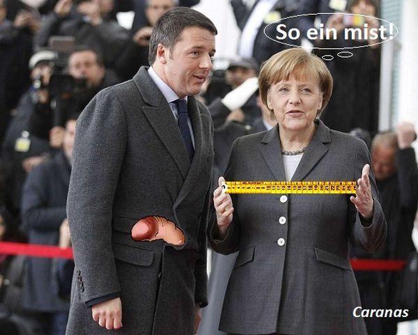 Quell'intrigante cappotto di Renzi ( con la seconda vignetta Caranas)