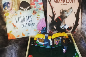"""Courage petit lapin !"" et ""Courage, grand loup"""