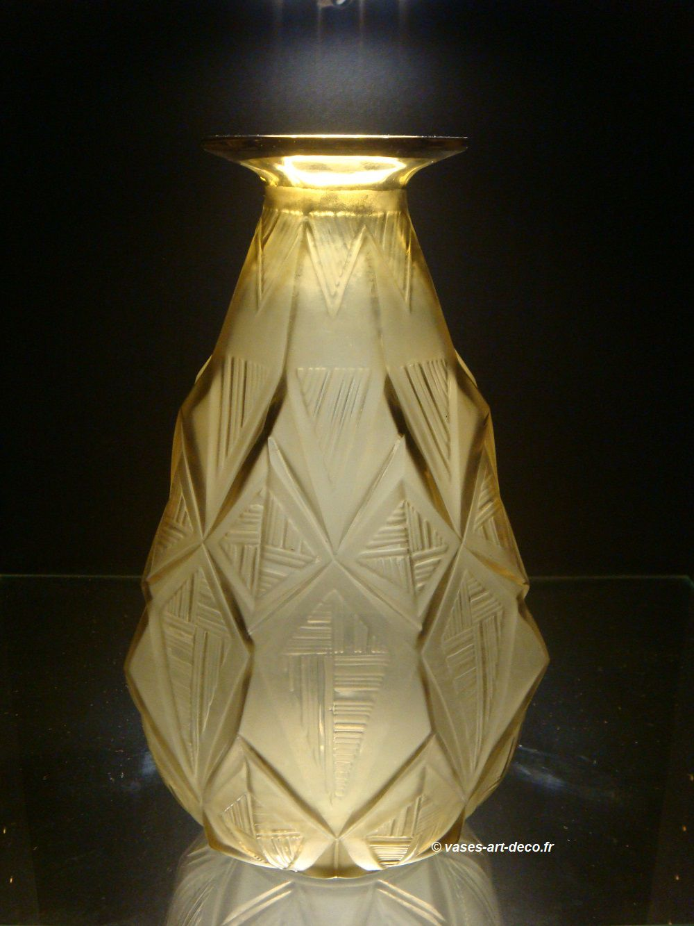 "Vase ""Losanges"" Bronze"