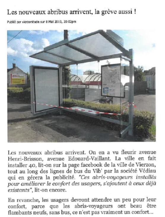 Vierzonitude dans la revue de presse du rapport 2019 des bus