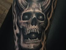 skull demon tattoo