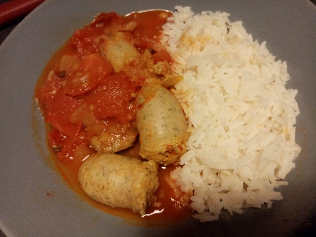 Saucisses à la pâte de curry