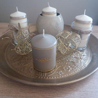 Plateau bougies fiançailles