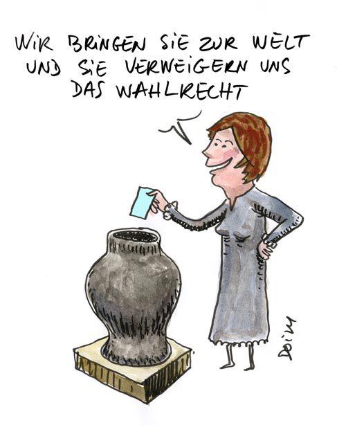 Droits des femmes, Frauenrechte  : dessins/ Zeichnungen (Guillaume Doizy)