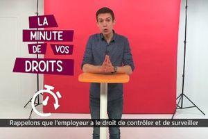 (Vidéo) La minute de vos droits - Surveillance de votre activité informatique et faute professionnelle