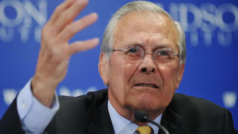 Donald Rumsfeld (Photo AFP - Getty images)
