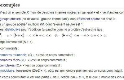 POST BAC - Corps commutatif