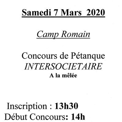 7  MARS CONCOURS INTERSOCIETAIRE