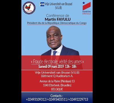 Intégralité Le Président Martin Fayulu Arrive à Bruxelles 09.03.2019 Face à La #DiasporaRDC