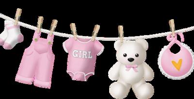 Naissance - Bébé - Fille - Rose - Corde à linge - Render-Tube - Gratuit