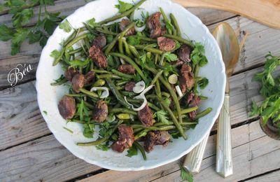 Salade de haricots verts et gésiers confits