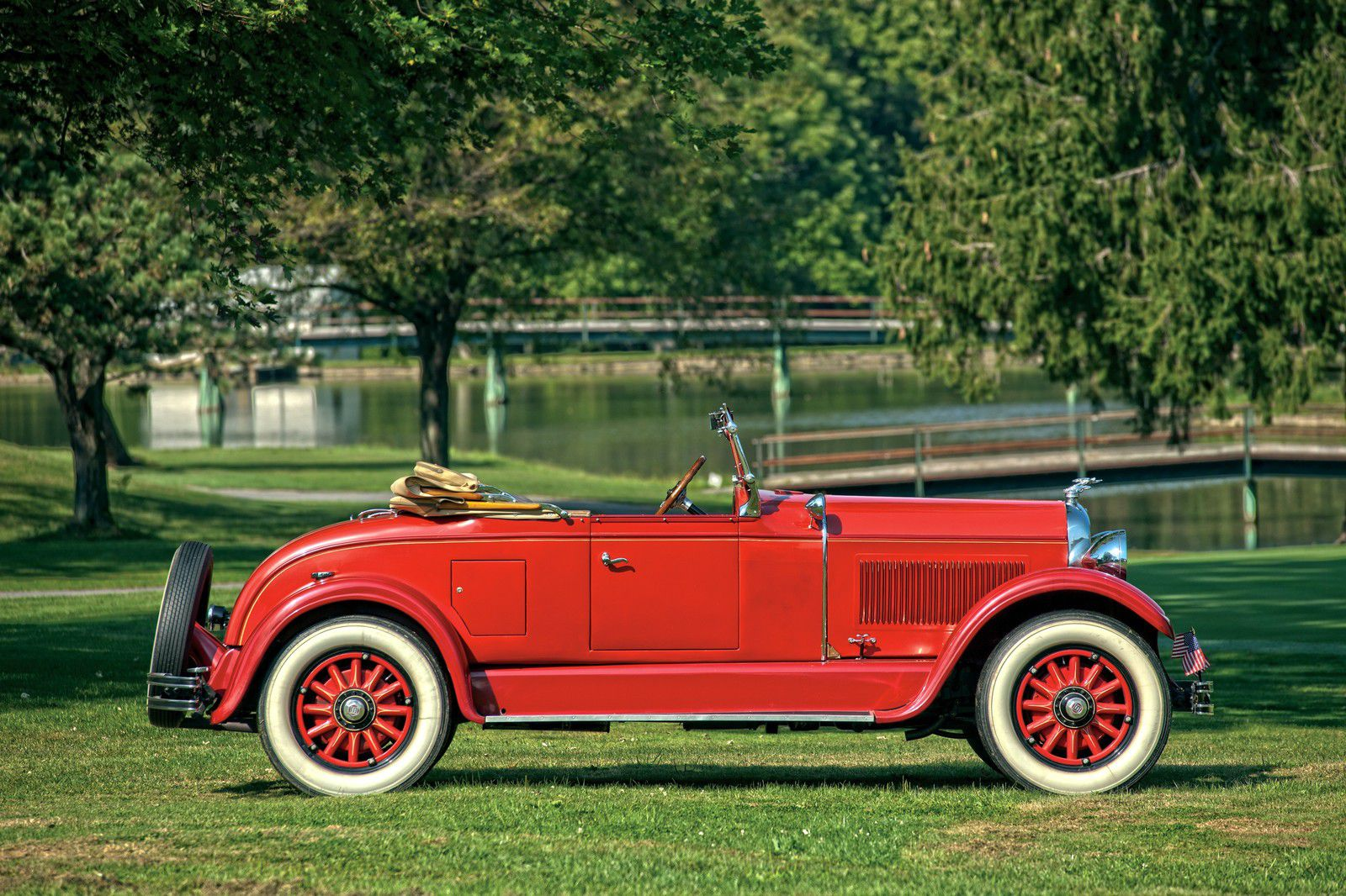 VOITURES DE LEGENDE (1247) : STUDEBAKER  COMMANDER REGAL RUMBLE SEAT ROADSTER - 1928