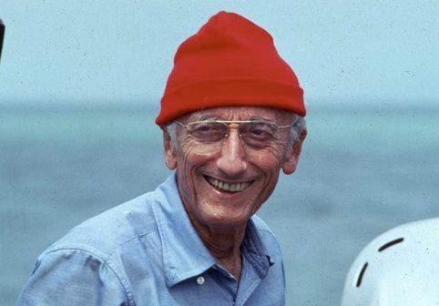 JYC, le Capitaine de Corvette Jacques-Yves Cousteau, commandant de la Calypso