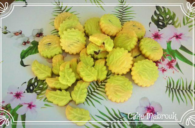 Petits gâteaux vanille pistache au chocolat maamouls