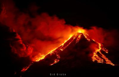 Activity of Etna, Stromboli and Merapi