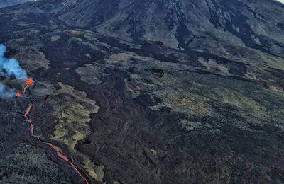 Hier matin  L'éruption du Piton de la Fournaise