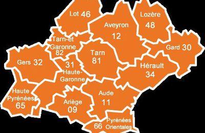 Numéros 1 du classement d'Occitanie de 2008 à 2019
