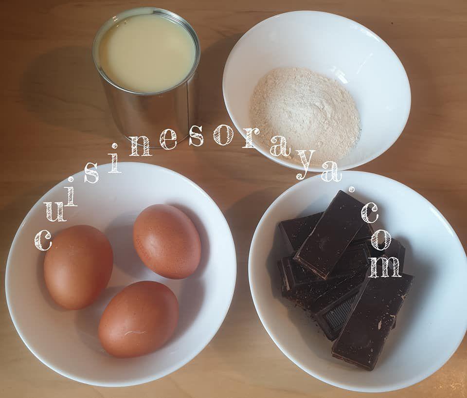Fondant chocolat au lait concentré - 4 ingrédients