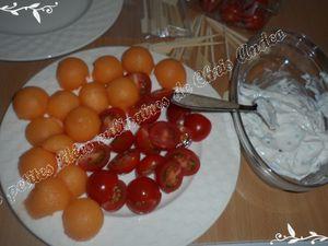 Sphères tomate et melon