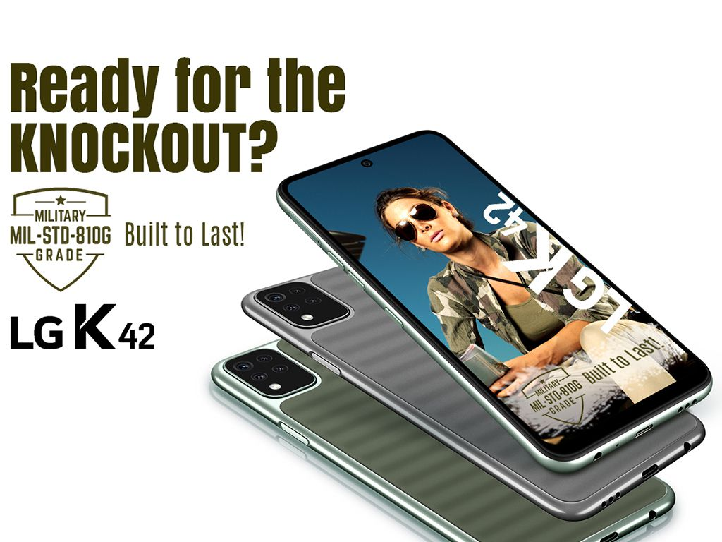 LG K42 with Military Grade Durability (MIL-STD-810G) certification redefine durability standard for Smartphones