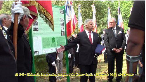Photos de la cérémonie, inauguration au camp de Bourg-Lastic et Briffons (63) 26 Août 2017