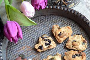 Cookies salés aux fruits secs #partenariat