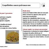Fiche recette cookeo :Coquillettes sauce poireaux weight watchers |