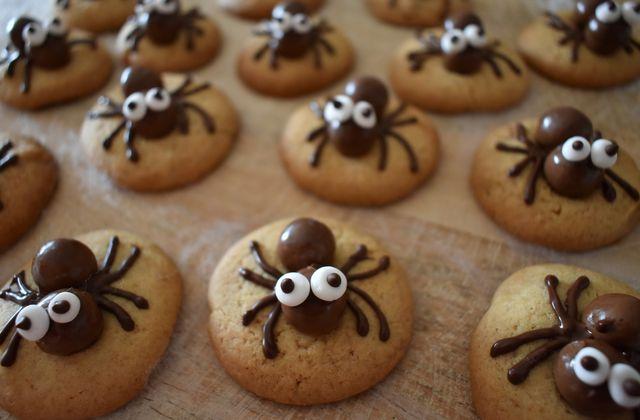 Spiders cookies pour Halloween