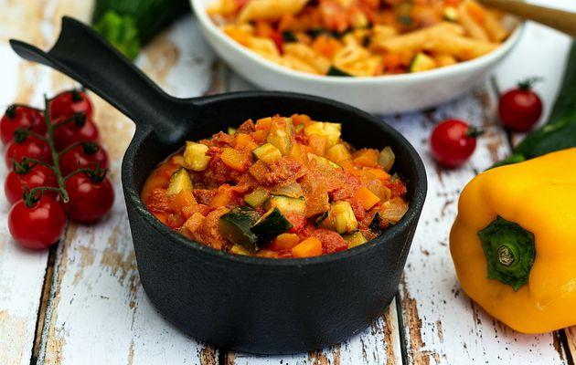 Sauce tomate aux légumes (pour pâtes, riz, semoule...)