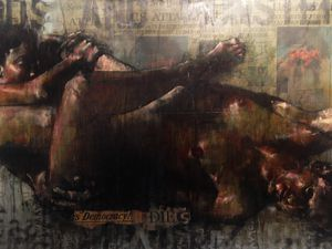 Minotaur woman kicked your right wing are - Six degrees of separation / Guy Denning