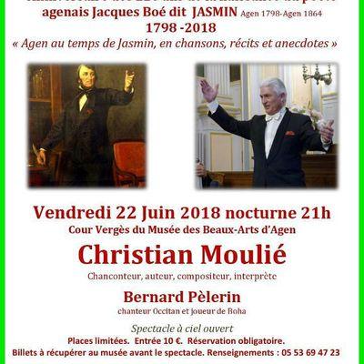 Agen fête les 220 ans de la naissance de Jasmin, Jacques Boé