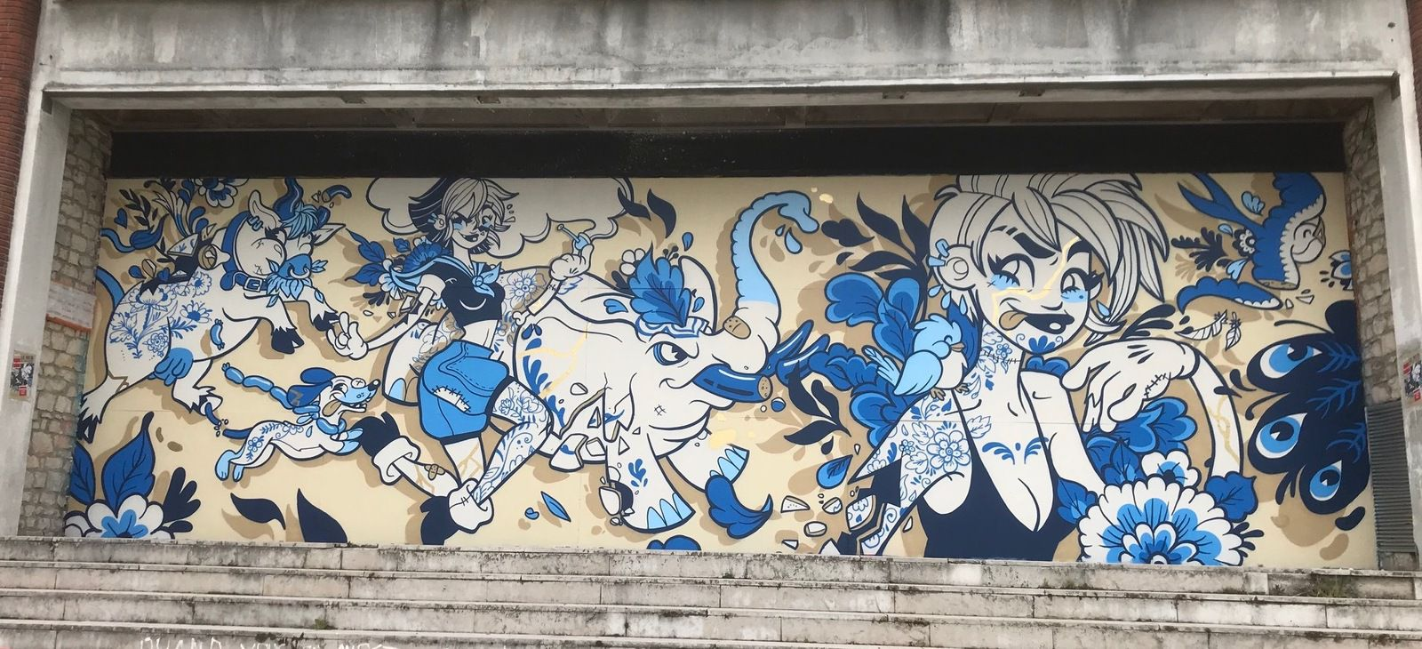 Williann cartoon... en bleu sur le Mur#25...