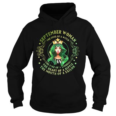 September woman the soul of a witch the fire of a lioness shirt