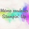 Fiches mémo couleurs Stampin'Up