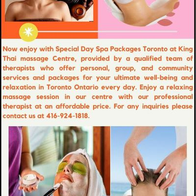 Special Day Spa Packages Toronto for limited period Offer | King Thai Massage