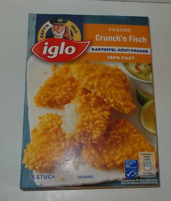 iglo Filegro Crunch'n Fisch Kartoffel-Rösti Panade