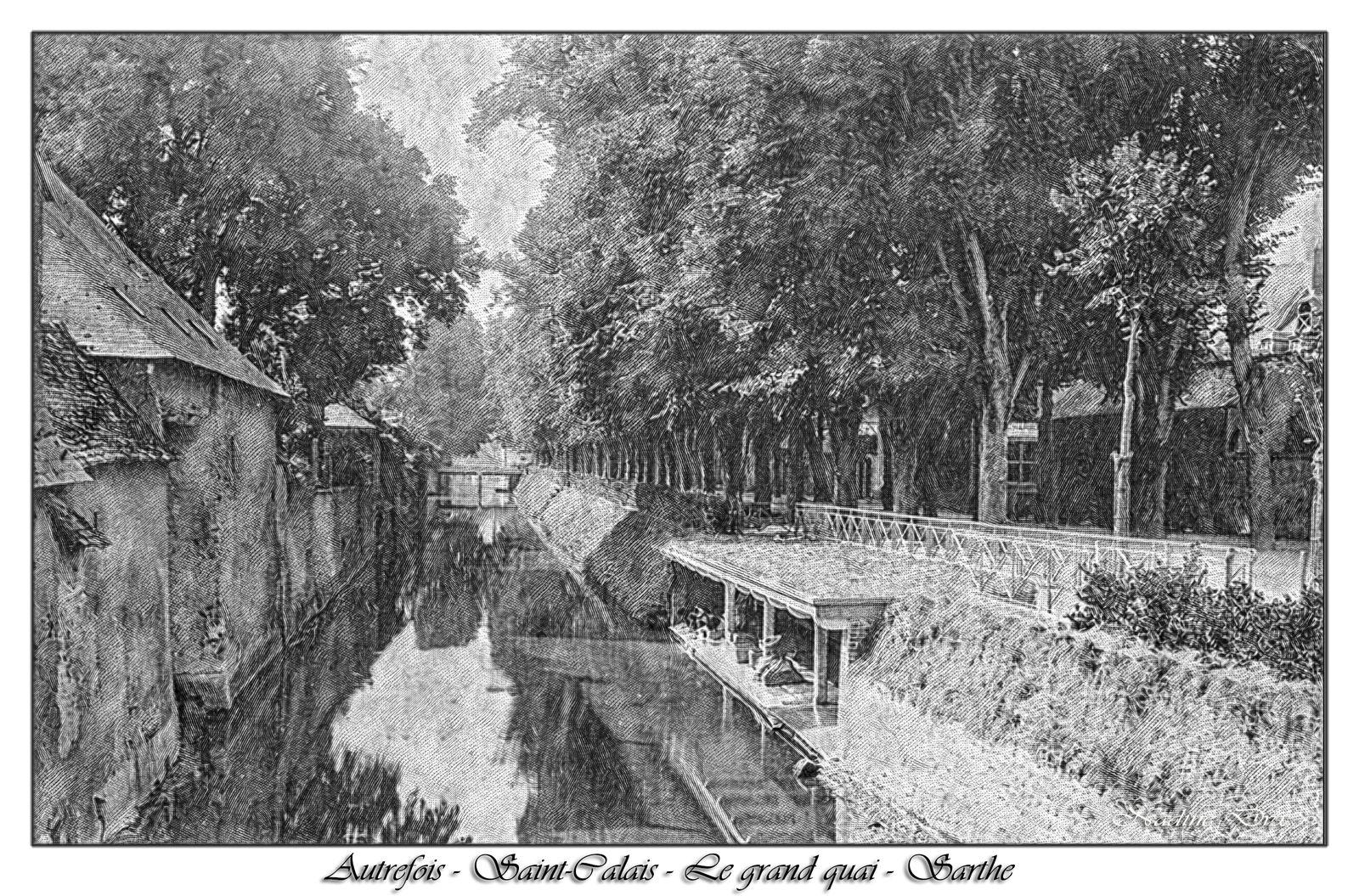 Saint-Calais - Lavoir au bord de l'Anille - Sarthe