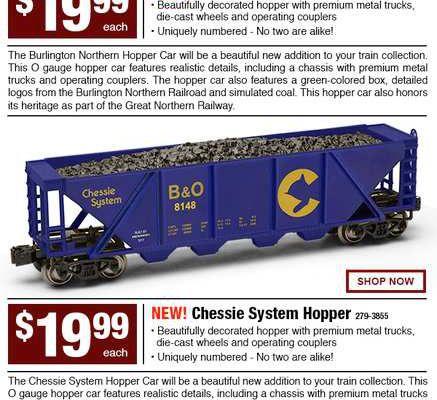 Deux nouveaux wagons de charbon chez MENARDS
