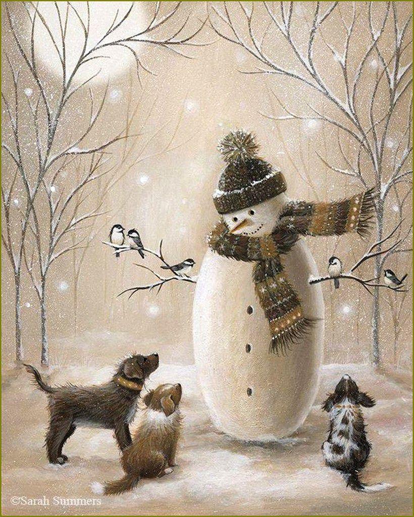 Les chiens en peinture et illustrations -  Sarah Summer