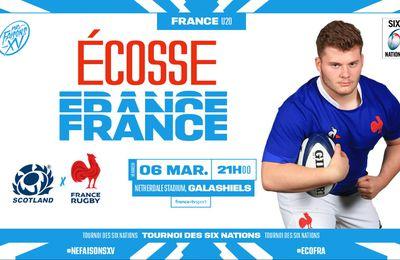 [Rugby] Ecosse / France (Tournoi des 6 Nations U20) ce vendredi sur France TV Sport !