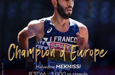 (Vidéo) Le Franco-Algérien Mahiedine Mekhissi, champion d'Europe du 3000 m steeple à Berlin !