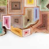 Graphic Patterns on Pieces of Wood