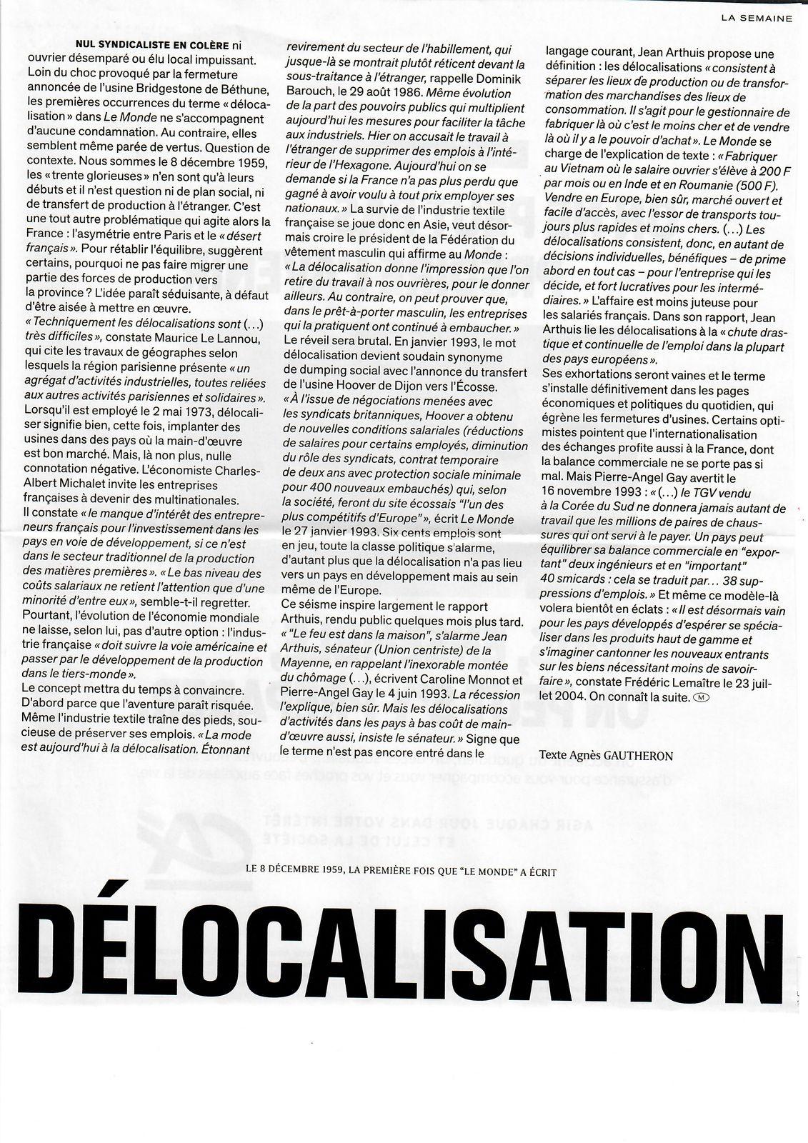 Vu et lu dans le magazine M Le Monde n° 471 du 26/09/20