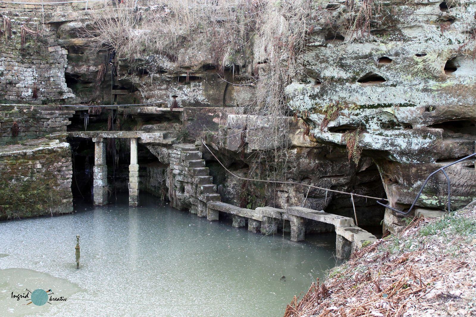 Ernzer Felsenweiher Naturpark Südeifel Winter