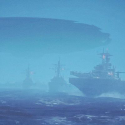 👽 Huge UFO Mothership over US Navy Ships in Storm in South China Sea