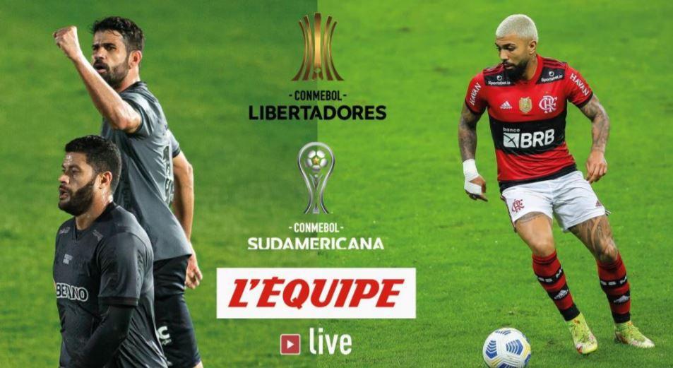 Les phases finales de la Copa Libertadores et de la Copa Sudamericanaen direct sur l'Equipe