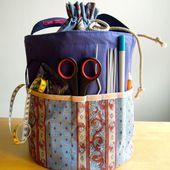 Tricot sac à la main, Handarbeitskorb, panier, stockage de tricot, crochet, aiguilles à tricoter, à tricoter au crochet, crochets, panier de laine