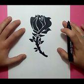 Como dibujar una rosa paso a paso 8   How to draw a rose 8
